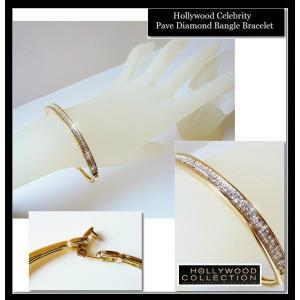 バングル ブレスレット 18金 ゴールド パヴェ ダイヤモンド ミランダ カー コレクション celeb-cz-jewelry 09