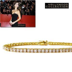 ブレスレット ダイヤモンド 18金 ゴールド テニス ブレスレット 3mm径|ペネロペ クルス コレクション|celeb-cz-jewelry