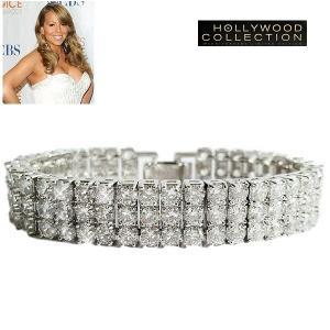 ブレスレット ダイヤモンド テニスブレスレット | 3連 ブレスレット|マライア キャリー コレクション|celeb-cz-jewelry