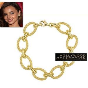 ブレスレット 18金 チェーン ゴールド メッシュ ミランダ カー コレクション|celeb-cz-jewelry