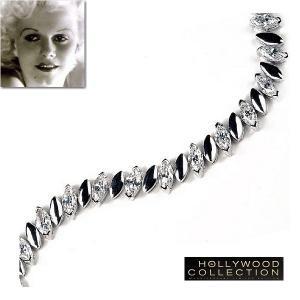 ブレスレット ダイヤモンド マーキスカット テニスブレスレット「プラチナブロンド」ジーン ハーロウ コレクション|celeb-cz-jewelry