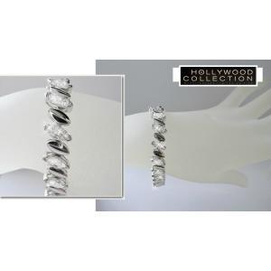 ブレスレット ダイヤモンド マーキスカット テニスブレスレット「プラチナブロンド」ジーン ハーロウ コレクション|celeb-cz-jewelry|04
