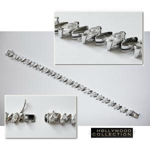 ブレスレット ダイヤモンド マーキスカット テニスブレスレット「プラチナブロンド」ジーン ハーロウ コレクション|celeb-cz-jewelry|05