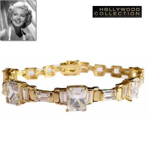 ブレスレット ダイヤモンド 18金 レトロ アールデコ「スゥイートセンセーション」ラナ ターナー コレクション|celeb-cz-jewelry