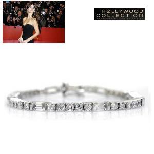 ブレスレット ダイヤモンド テニスブレスレット バゲットカット ペネロペ  クルス コレクション|celeb-cz-jewelry