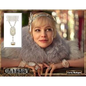 パール ブライダル ブレスレット リング セット  ゴールド アールデコ 映画「華麗なるギャツビー」 キャリー マリガン コレクション|celeb-cz-jewelry|02