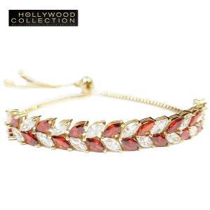 ブレスレット アンクレット ルビー レッド リーフ ハリウッド セレブ コレクション celeb-cz-jewelry