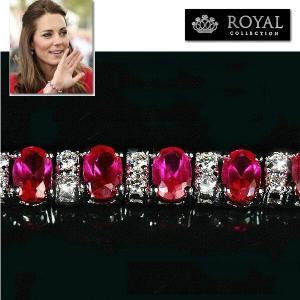ブレスレット ルビー レッド テニス ブレスレット|キャサリン妃 ロイヤルコレクション|celeb-cz-jewelry