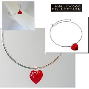 ブレスレット ハート ルビー レッド 赤 スワロフスキー「ゴシップガール」 レイトン ミースター コレクション|celeb-cz-jewelry