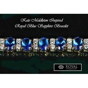 ブレスレット サファイア ブルー ゴールド テニス ブレスレット キャサリン妃 ロイヤルコレクション celeb-cz-jewelry 03