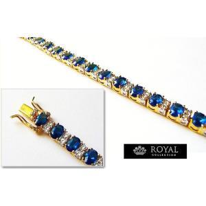 ブレスレット サファイア ブルー ゴールド テニス ブレスレット キャサリン妃 ロイヤルコレクション celeb-cz-jewelry 06