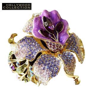 ブライダル ブレスレット 花 フラワー 紫 パープル パーティ18金 ハリウッド セレブ ブライダル ジュエリー|celeb-cz-jewelry