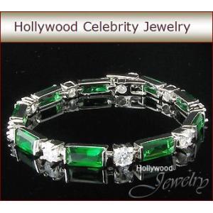 ブレスレット エメラルド グリーン プリンセス テニスブレスレット|ハリウッド コレクション|celeb-cz-jewelry