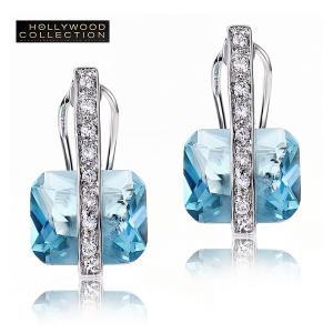 アクアマリン ピアス アールデコ ハリウッド セレブ コレクション|celeb-cz-jewelry