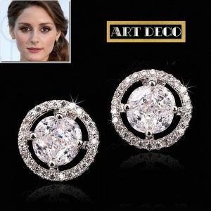ピアス ダイヤモンド スタッド レトロ アールデコ オリビア パレルモ コレクション|celeb-cz-jewelry