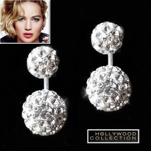 ピアス ダイヤモンド ボール パヴェ ダブルサイド ジェニファー ローレンス コレクション|celeb-cz-jewelry