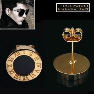 ピアス ブラックダイヤモンド 黒ダイヤ メンズ スタッド ピアス 片耳用|ヴィンテージ ゴールド|アダムランバート コレクション