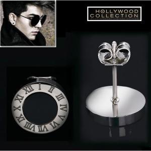 ピアス ブラックダイヤモンド 黒ダイヤ メンズ スタッド ピアス 片耳用|ヴィンテージ シルバー |アダムランバート コレクション