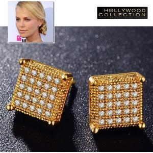 ピアス ダイヤモンド スタッド 18金 ゴールド マイクロ パヴェ シャーリーズ セロン コレクション|celeb-cz-jewelry