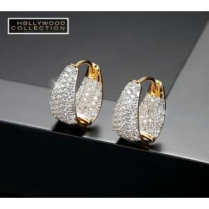 フープピアス 小さい 16mm 18金 ゴールド マイクロパヴェ ハギーピアス エマワトソン コレクション|celeb-cz-jewelry|07