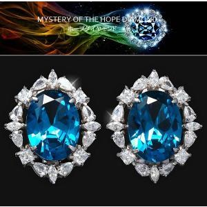 ホープダイヤモンド ピアス ブルーダイヤモンド CZ ヘリテージ コレクション|celeb-cz-jewelry