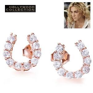 ピアス 馬蹄 幸運 ラッキー ホースシュー ピンクゴールド サラ ジェシカ パーカー コレクション|celeb-cz-jewelry