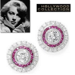 ピアス ピンクダイヤモンド レトロ アールデコ ラナ ターナー コレクション|celeb-cz-jewelry