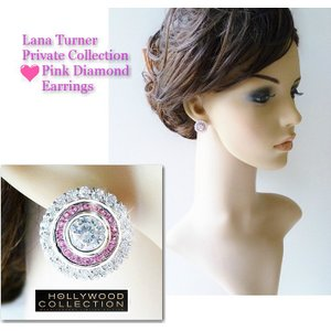 ピアス ピンクダイヤモンド レトロ アールデコ ラナ ターナー コレクション|celeb-cz-jewelry|04