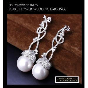 パールピアス 真珠 揺れる 大粒 15mm 結婚式 パーティ レトロ アールデコ ビヨンセ コレクション|celeb-cz-jewelry|07