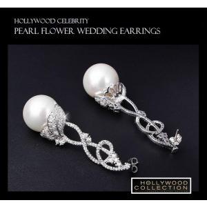 パールピアス 真珠 揺れる 大粒 15mm 結婚式 パーティ レトロ アールデコ ビヨンセ コレクション|celeb-cz-jewelry|08