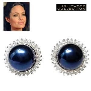 ピアス パール 大粒 黒真珠 10mm アンジェリーナ ジョリー コレクション|celeb-cz-jewelry
