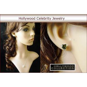 ピアス ハート ペリドット グリーン 7mm 8月誕生石 ブレイク ライブリー コレクション celeb-cz-jewelry 04