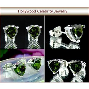 ピアス ハート ペリドット グリーン 7mm 8月誕生石 ブレイク ライブリー コレクション celeb-cz-jewelry 05