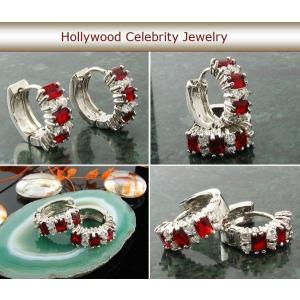 フープ ピアス ルビー レッド 赤 16mm ミラ クニス ファッション|celeb-cz-jewelry|04