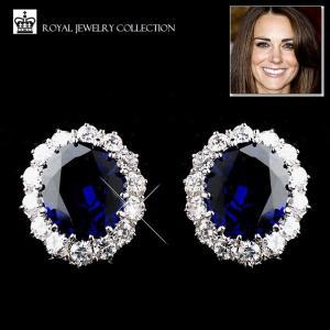 ピアス サファイア ブルー キャサリン妃 ロイヤル コレクション|celeb-cz-jewelry