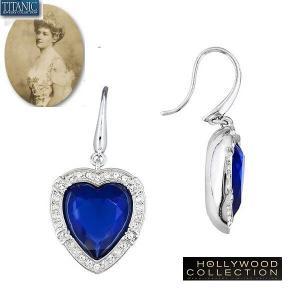 ピアス ハート 揺れる ブルー ダイヤモンド タイタニック ジュエリー コレクション|celeb-cz-jewelry