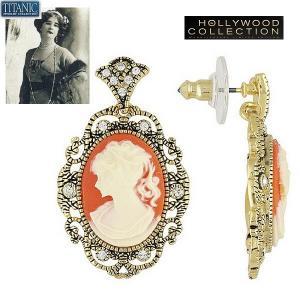 ピアス カメオ クチュール 揺れる タイタニック ジュエリー コレクション|celeb-cz-jewelry
