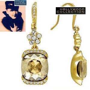 ピアス シャンパン ダイヤモンド 揺れる タイタニック ジュエリー コレクション|celeb-cz-jewelry
