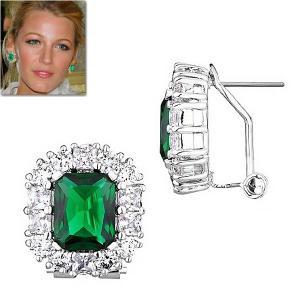 ピアス エメラルド グリーン ダイヤモンド ブレイク ライブリー コレクション |celeb-cz-jewelry