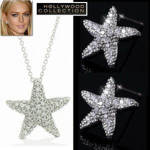 ネックレス セット スターフィッシュ ダイヤモンド パヴェ ひとで リンジーローハン コレクション|celeb-cz-jewelry