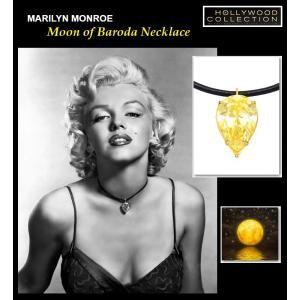 伝説の「バローダの月」ネックレス マリリン モンロー ブライダル 記念日 パーティ イエローダイヤモンド ティアドロップ チョーカー|celeb-cz-jewelry|02