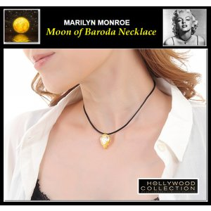 伝説の「バローダの月」ネックレス マリリン モンロー ブライダル 記念日 パーティ イエローダイヤモンド ティアドロップ チョーカー|celeb-cz-jewelry|06