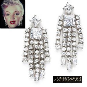 ピアス ダイヤモンド マリリン モンロー 揺れるピアス プライベート ジュエリー コレクション|celeb-cz-jewelry