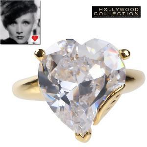 リング ダイヤモンド ハート 18金「恋のページェント」マレーネ ディートリッヒ コレクション|celeb-cz-jewelry