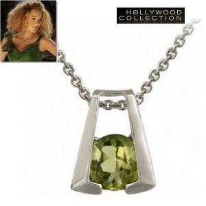 ネックレス 天然 ペリドット 馬蹄 幸運 ブレイク ライブリー コレクション|celeb-cz-jewelry