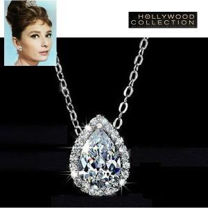 ネックレス ダイヤモンド ティアドロップ ネックレス|「ティファニーで朝食を」オードリー ヘップバーン コレクション|celeb-cz-jewelry