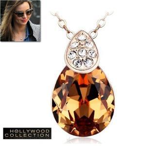 ネックレス シャンパン ダイヤモンド ピンクゴールド ミランダ カー コレクション|celeb-cz-jewelry