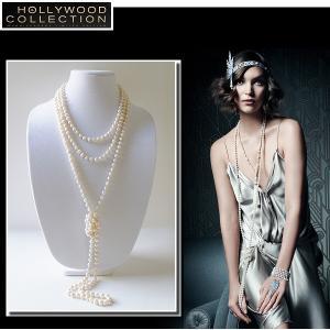 パール ネックレス セット ロング 254cm バロック 淡水パール ネックレス ピアス セット アールデコ ジャズ時代 コレクション|celeb-cz-jewelry