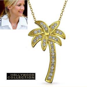 ネックレス ヤシの木 パームツリー パヴェ 18金 ネックレス|ケイト ハドソン コレクション|celeb-cz-jewelry