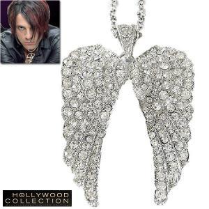 ネックレス 天使の羽 ペンダント ロング エンジェル ウイング クリス エンジェル コレクション|celeb-cz-jewelry